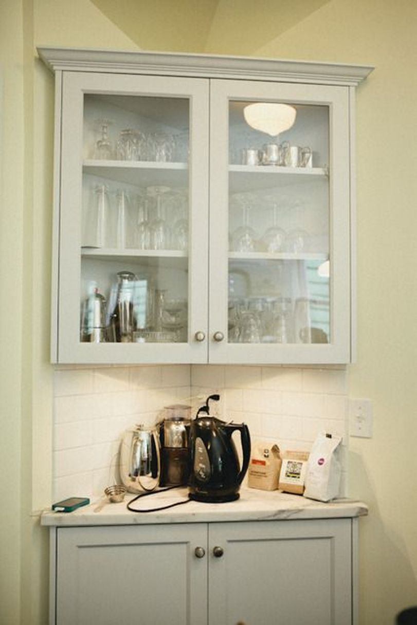 Duo Of Corner Cabinets
