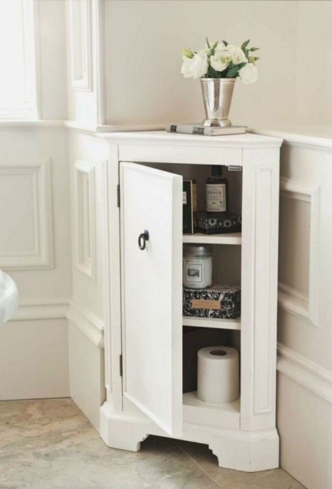 Stylish Tiny Corner Cabinet