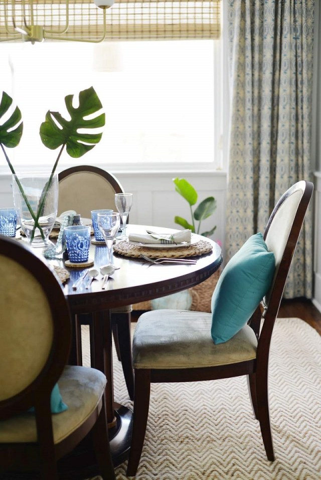 Tropical Inspired Dining Room