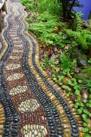 Garden Pebble Stone Paths 15