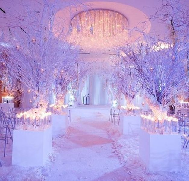 24 Magical Winter Wedding Decoration Ideas