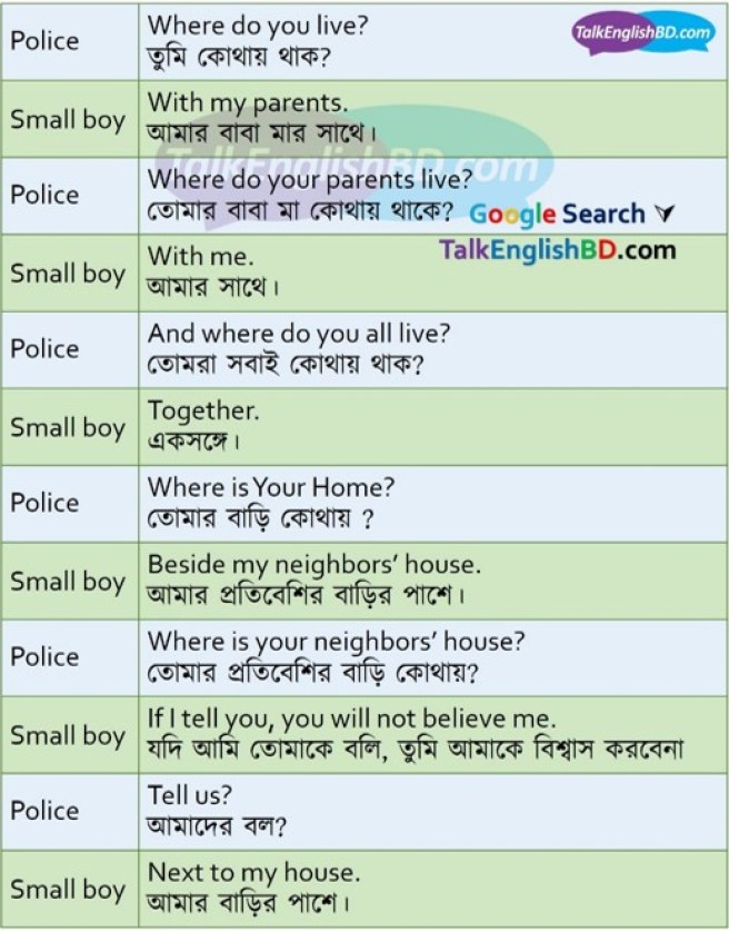 English to Bangla Conversation Part 06