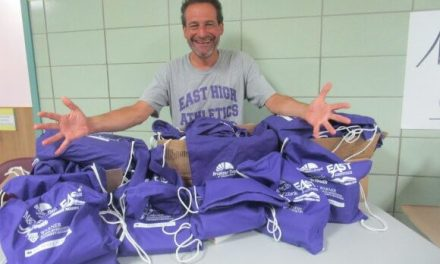Building the new East one purple bookbag at a time