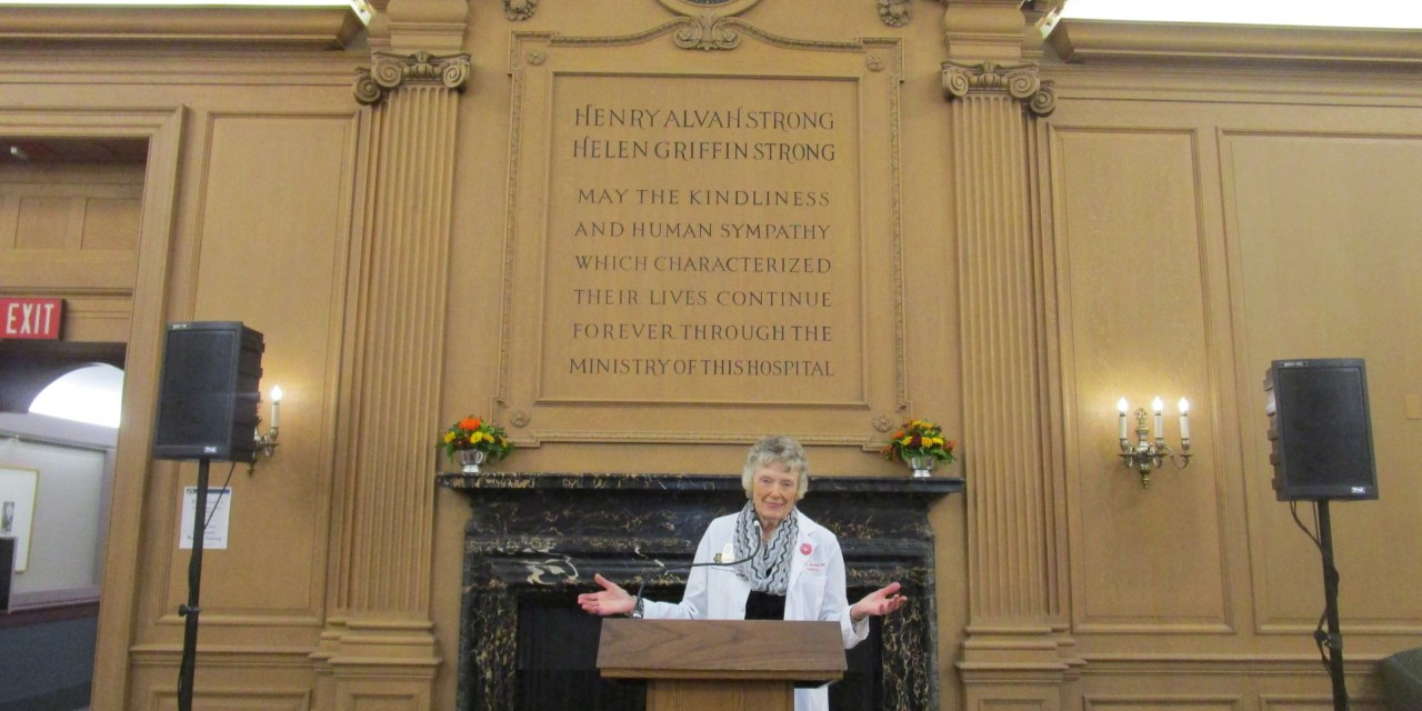 A personal tour of the URMC during Meliora Weekend with Dr. Ruth Lawrence, URMS '49. And still on the active faculty.
