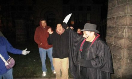 Stalker of the Town plays Jack the Ripper at the Rochester Candlelight Ghost Walk