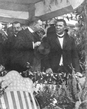 """""""Mr. Crane's Vivid Story"""" (scenes 1- 15(of24), Booker T. Washington at the Peace Jubilee, Chicago Auditorium, October 16th 1898)"""