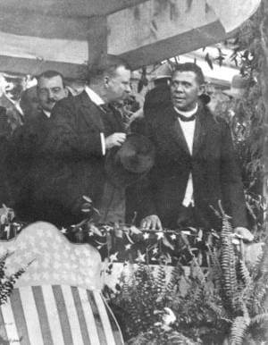 """Mr. Crane's Vivid Story"" (scenes 1- 15(of24), Booker T. Washington at the Peace Jubilee, Chicago Auditorium, October 16th 1898)"