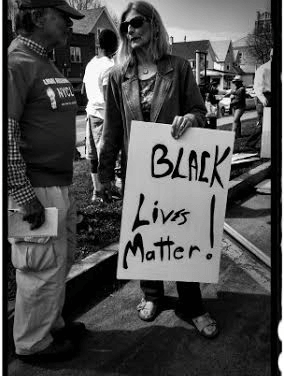 With or Without White People, Black Lives Matter by George Payne