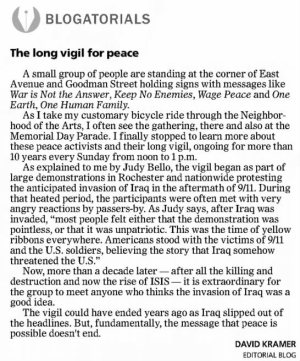 vigil for peace