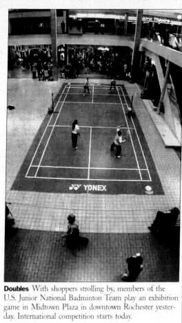"""Badminton shines in Brazil. And """"the Game Sublime"""" has a following in Rochester, including Rajesh Barnabas and New York State Assemblyman Mark Johns"""