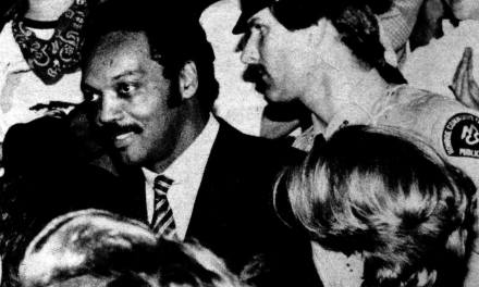 November 1st, 1984: Ronald Reagan five days before his 49 state landslide. And Jesse Jackson at MCC. And a liberal enclave.