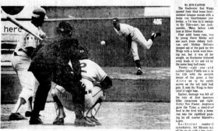 "48 years ago when Rochester saw its first ""Designated Pinch Hitter"""