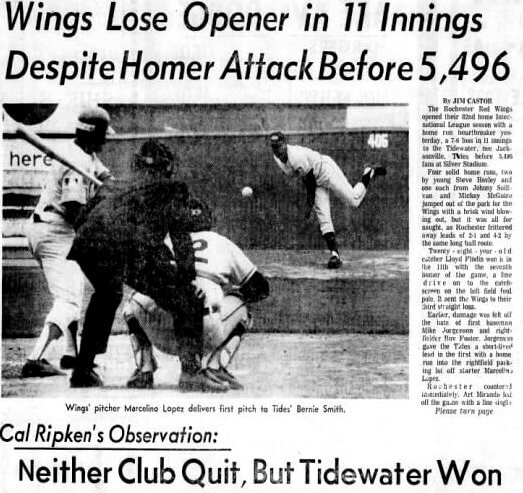 """48 years ago when Rochester saw its first """"Designated Pinch Hitter"""""""
