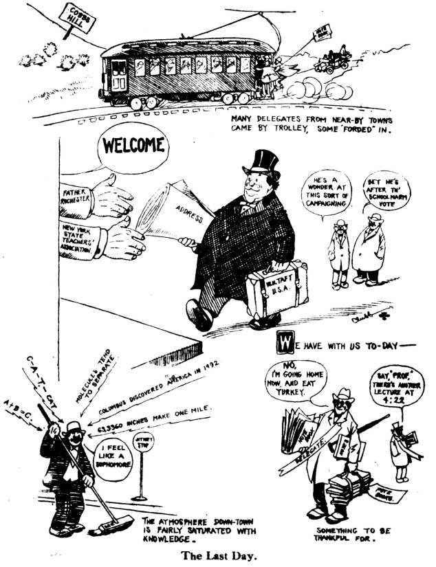 Editorial cartoon welcoming Taft to Rochester-page-0