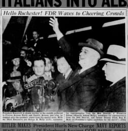 FDR in Rochester three days before he won a third term