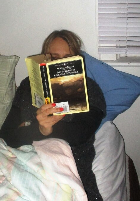 5. Leslie reading William James without phone before