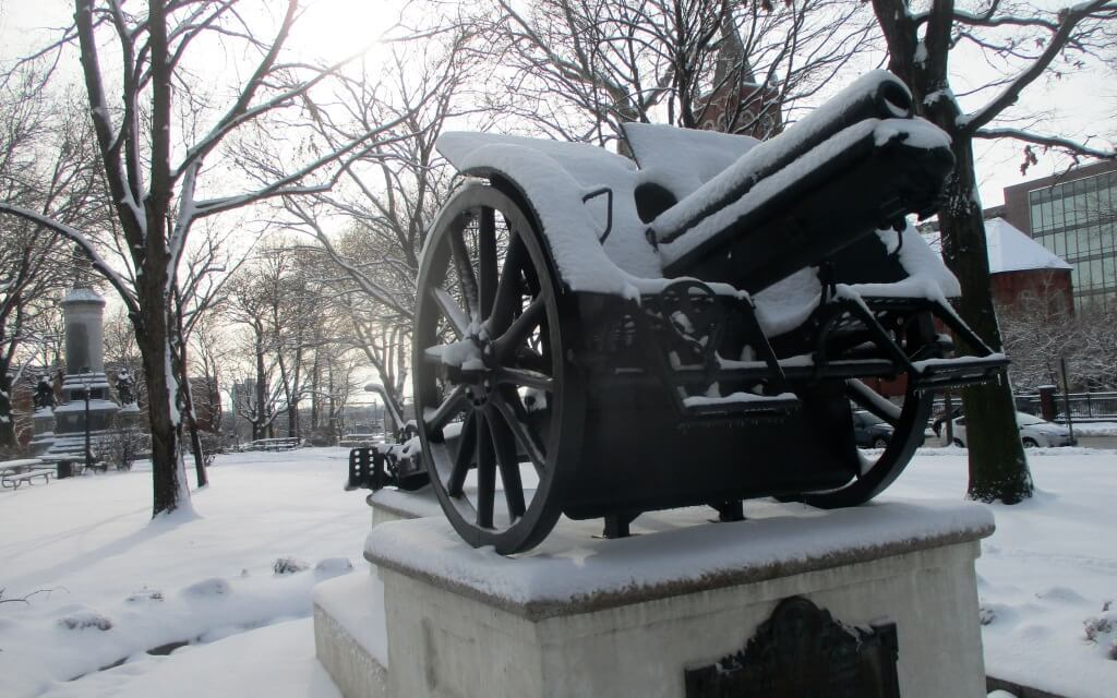 The Austrian cannon is back in Washington Square Park.  And some Italian Rochester history.