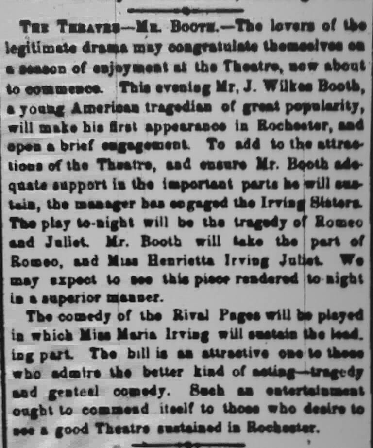 Rochester Daily Union and Advertiser Jan. 21, 1861