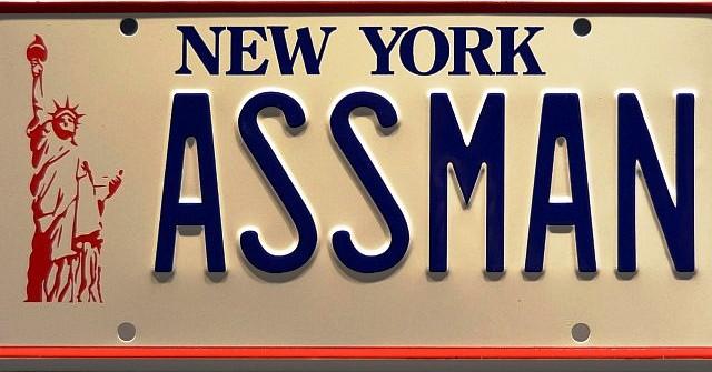 Kramer's ASSMAN license plate from Seinfeld.