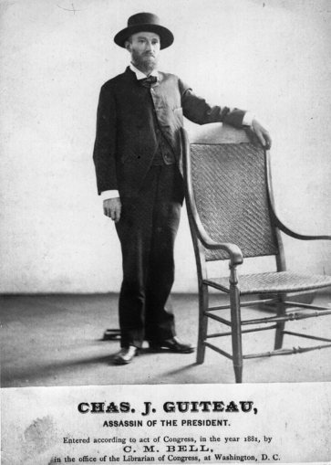4th July 1881: Charles 'Chas' Guiteau, the attorney who assassinated American president James A Garfield on 2nd July 1881 and was hanged on 30th June 1882 despite strong evidence of his insanity. (Photo by Hulton Archive/Getty Images)