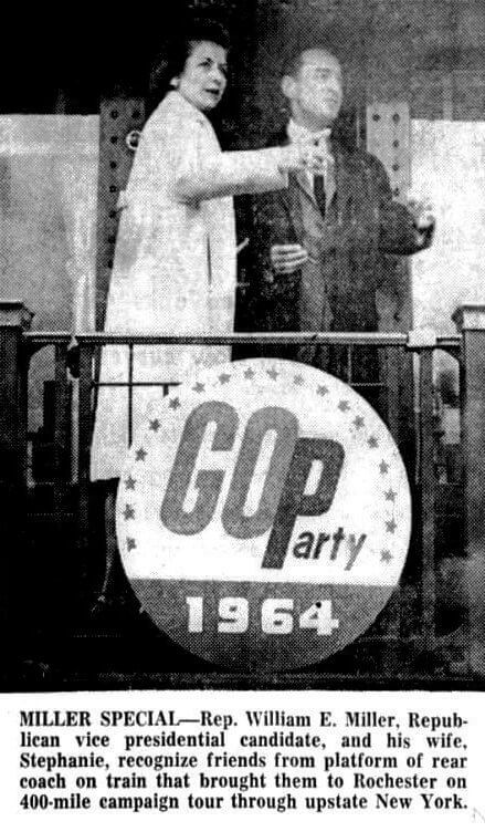 Goldwater did not campaign in Rochester. His running mate Democrat and Chronicle 25 Oct 1964