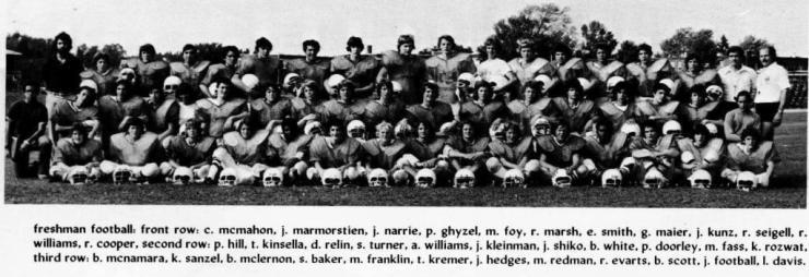 Freshman football, BHS 1978