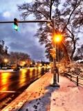 """My crossing post in winter"" [Photo: Steve Bottcher]"