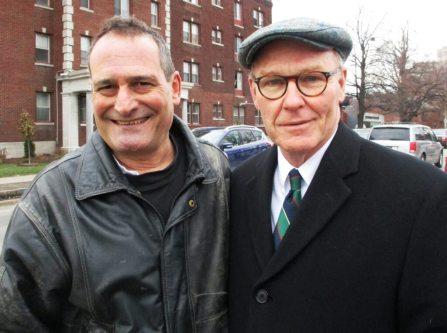 (left) David Kramer; (right) Gerald Rooney [Photo: Marion Romig]