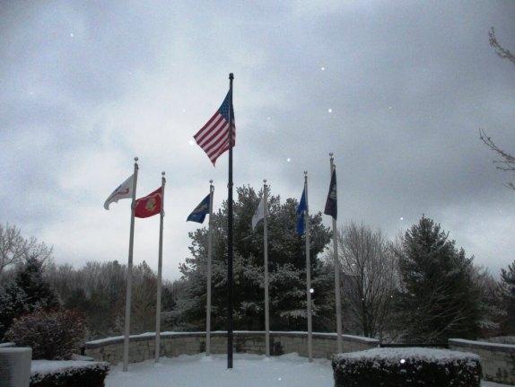 Vietnam Veterans Memorial, Highland Park [Photo: David Kramer, 1/18/19]