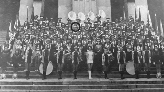 SU Marching Band - 1970s (your humble author is circled)