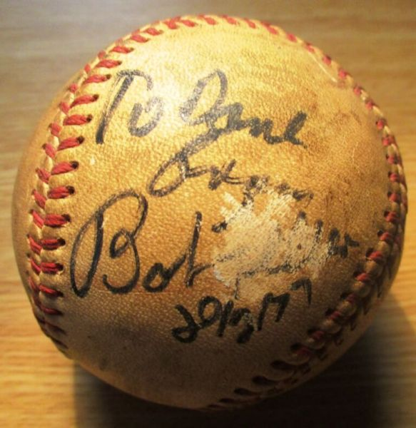 I was definitely there in 1977 at Silver Stadium when Hall of Famer Bob Feller signed by baseball.