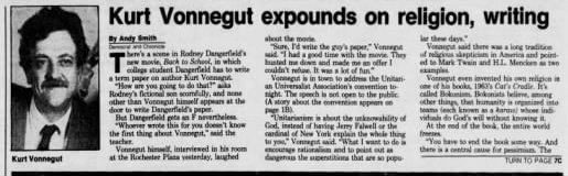 Rochester Democrat and Chronicle, Jun 27, 1986.
