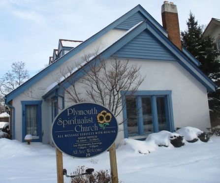 Plymouth Spiritualist Church. 29 Vick Park A Rochester. [Photo: David Kramer, 3/1/19