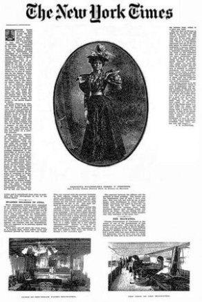 New York Times article on Evangelina Cosio y Cisneros