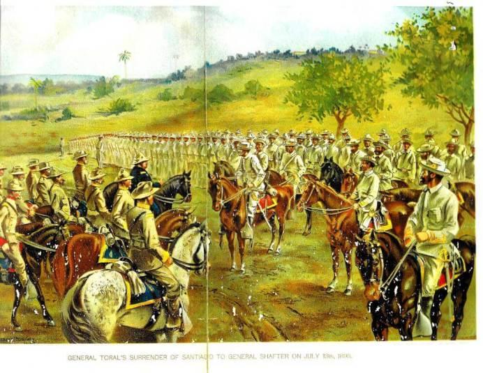General Toral's Surrender of Santiago to General Shafter on July 13th, 1898