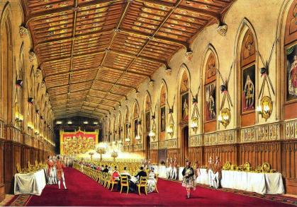 A Victorian Dinner in St. George's Hall, Windsor Castle