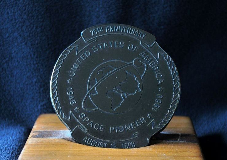 medal that was presented to my dad at the Commemoration: