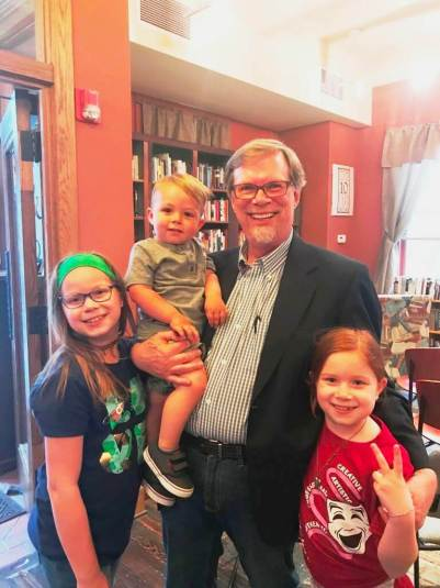David Seaborn with his grandchildren [Provided by David]