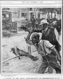 Some blacks fought back but were hopelessly outgunned. [HistoricalFindings Wilmington, NC, Race riot, November 1898, Black Men Firing Handguns]