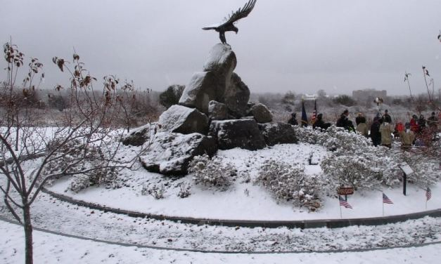 A snowy 100th Veterans Day in Brighton and the Battle of the Bulge