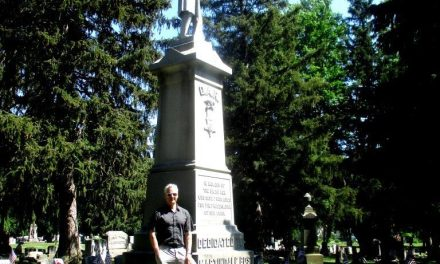 On finding a Confederate grave in Spencerport with Andre Marquis (BHS '81, UR '86) from UC Berkeley