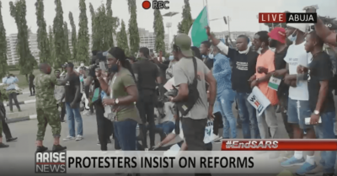 EndSARS: Protesters, ARISE News Camera Crew Attacked By Soldiers In Abuja