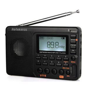 Radio AM FM portable Retekess V115 avec radio à ondes courtes