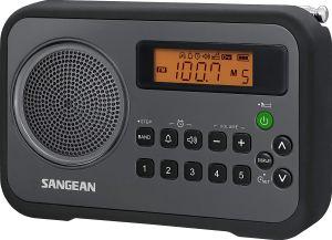 Radio numérique portable Sangean PR-D18BK AM / FM / horloge avec pare-chocs de protection