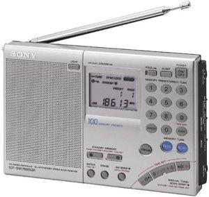 Récepteur bande mondiale Sony ICF-SW7600GR AM / FM à ondes courtes avec réception à bande latérale unique