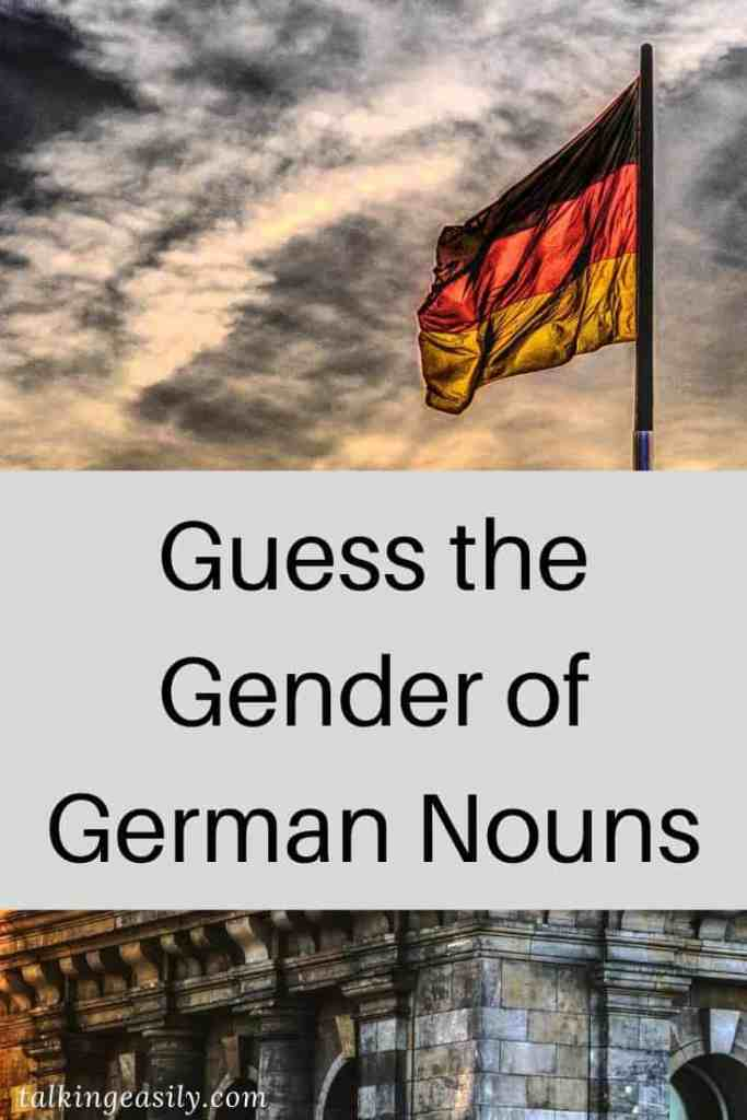 Post Pin: Guess the Gender of German Nouns: Title Image