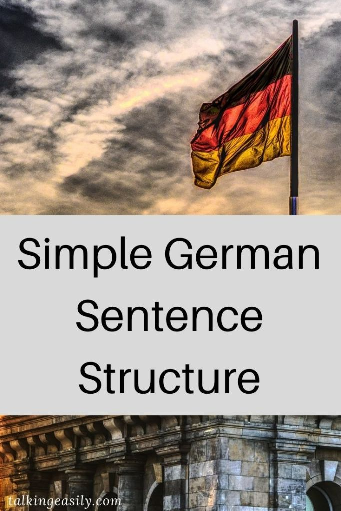Post Pin: Simple German Sentence Structure