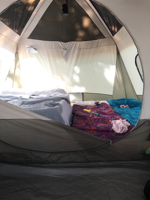 Camping with Kids Guide - 6'x11' 2 room tent that sleeps 8 people