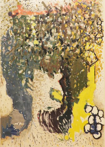 "Richard Aldrich ""Untitled 2015 oil, acrylic and wax on canvas 84x58"""