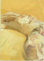 """Helen Selsdon """"Joel sleeping Cape May"""" 2011 Oil on board 18.75 x 14.5"""""""